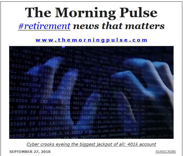 The Morning Pulse – September 27, 2018