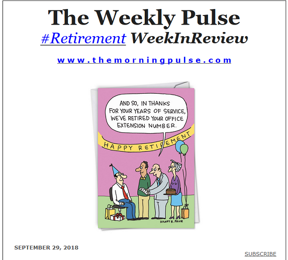The Weekly Pulse – September 29, 2018