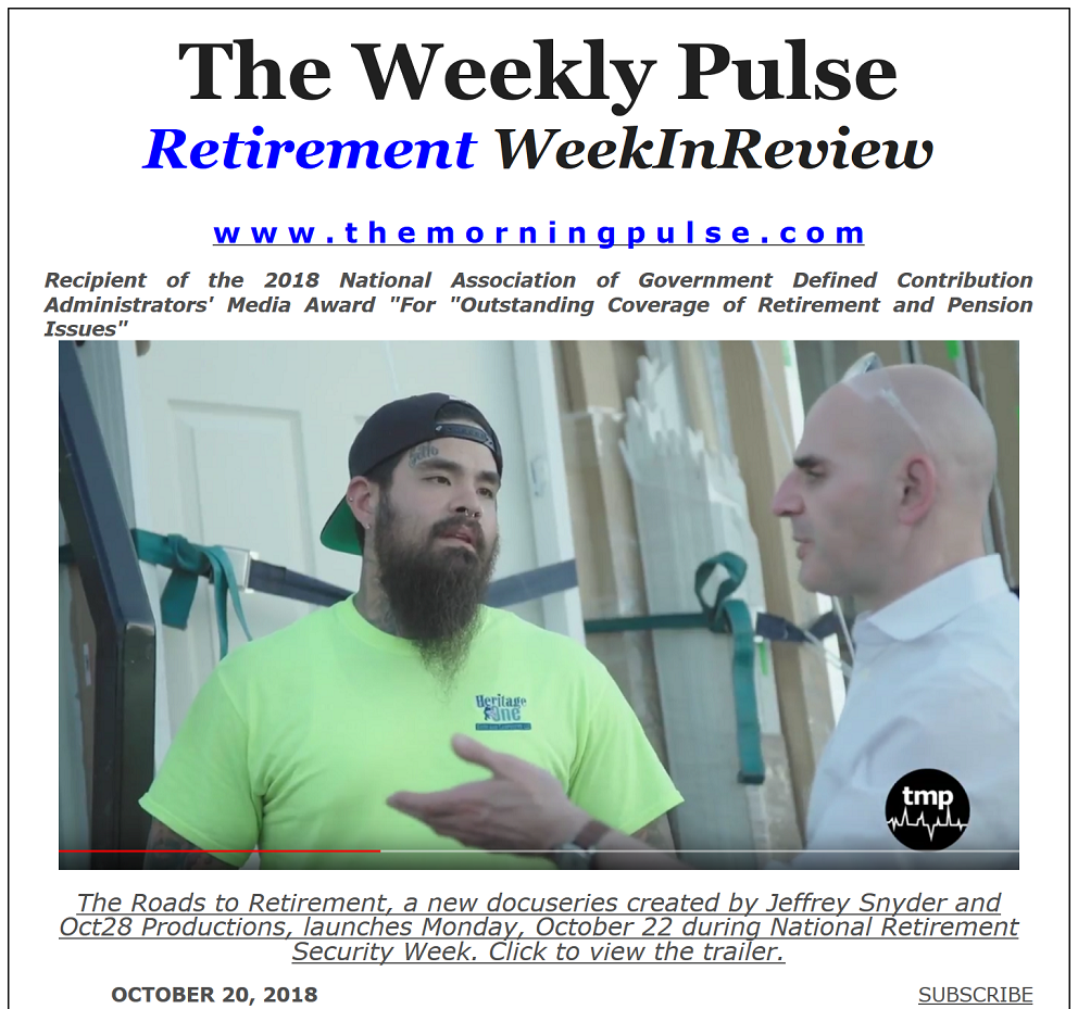 The Weekly Pulse – October 20, 2018