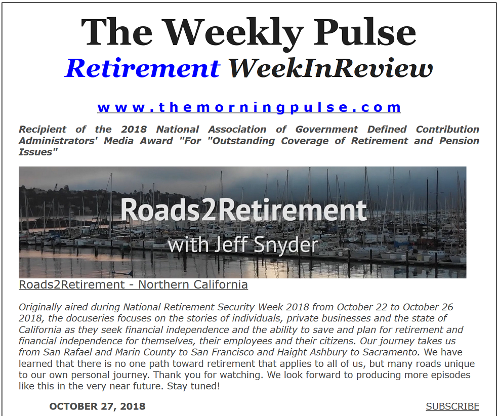 The Weekly Pulse – October 27, 2018