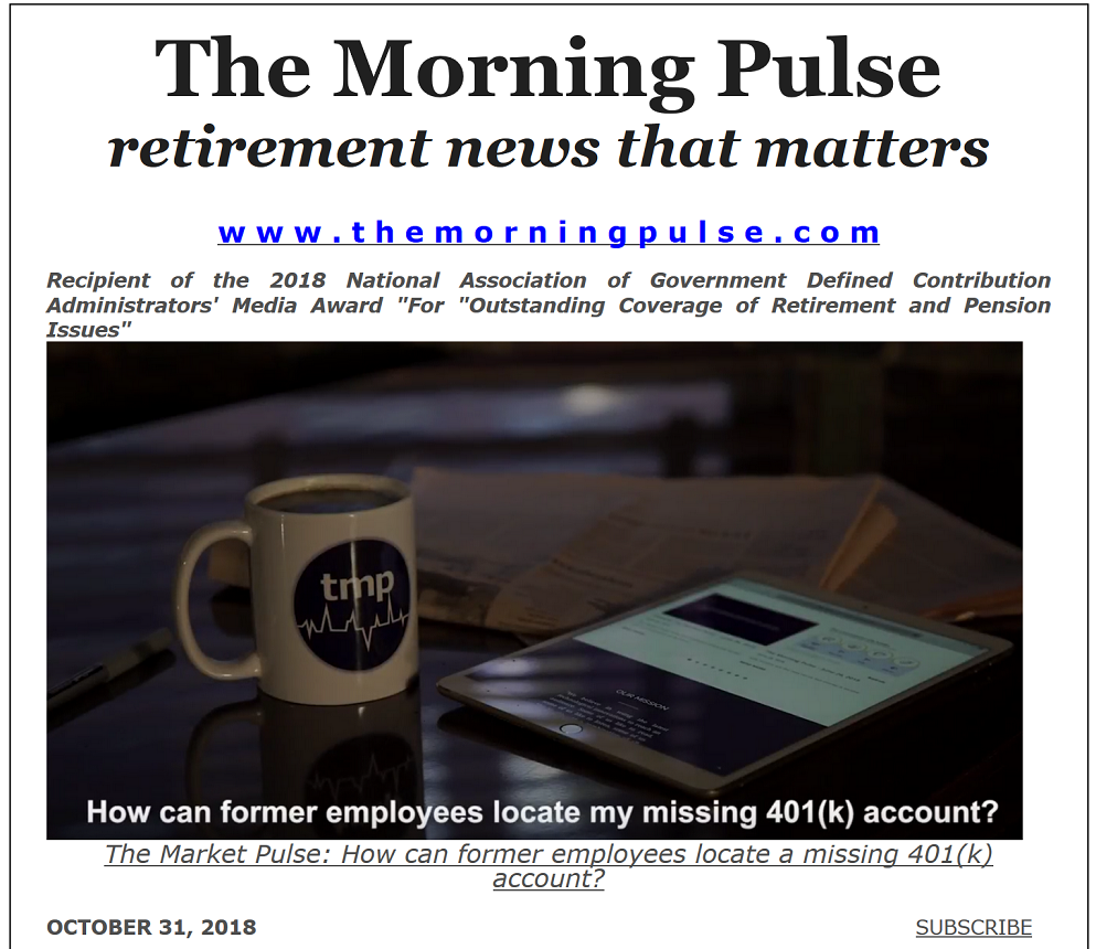 The Morning Pulse – October 31, 2018