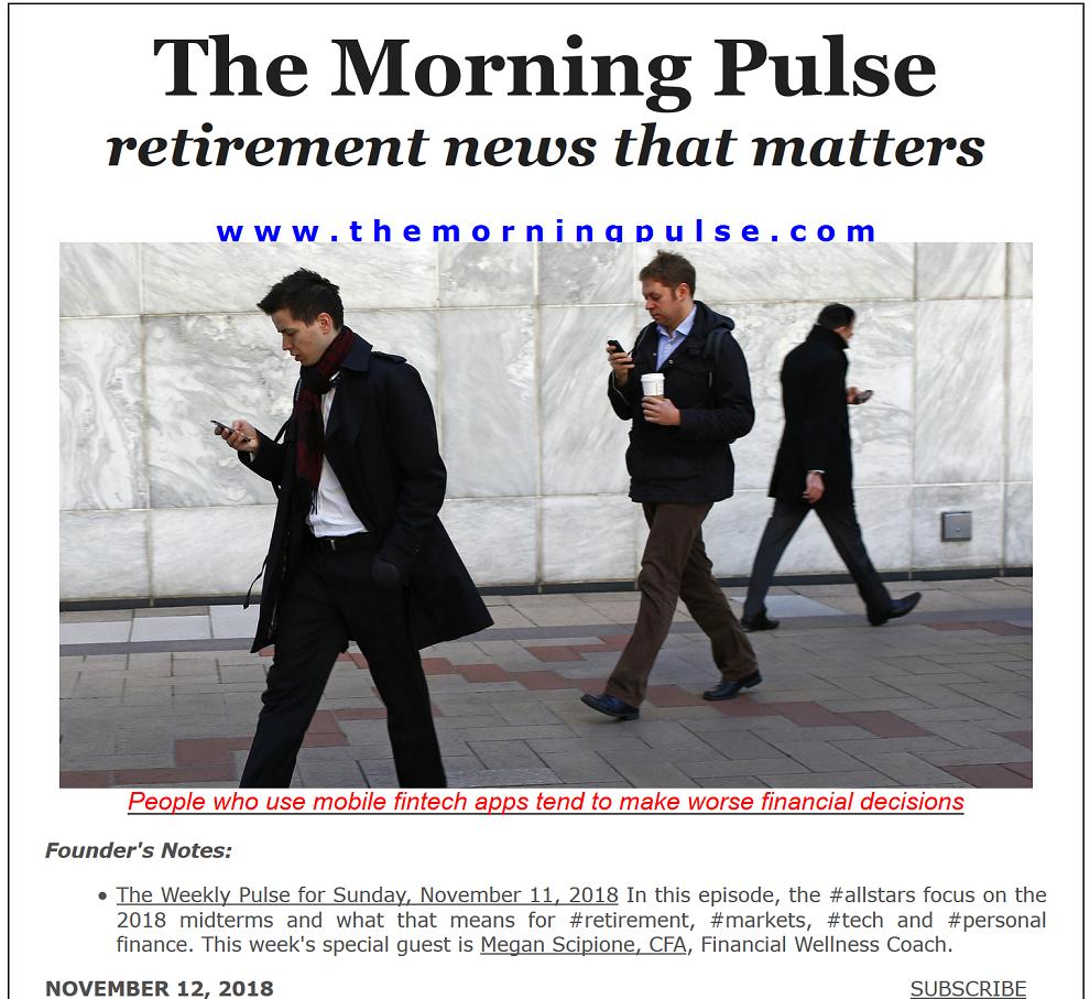 The Morning Pulse – November 12, 2018