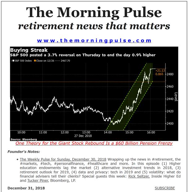 The Morning Pulse – December 31, 2018