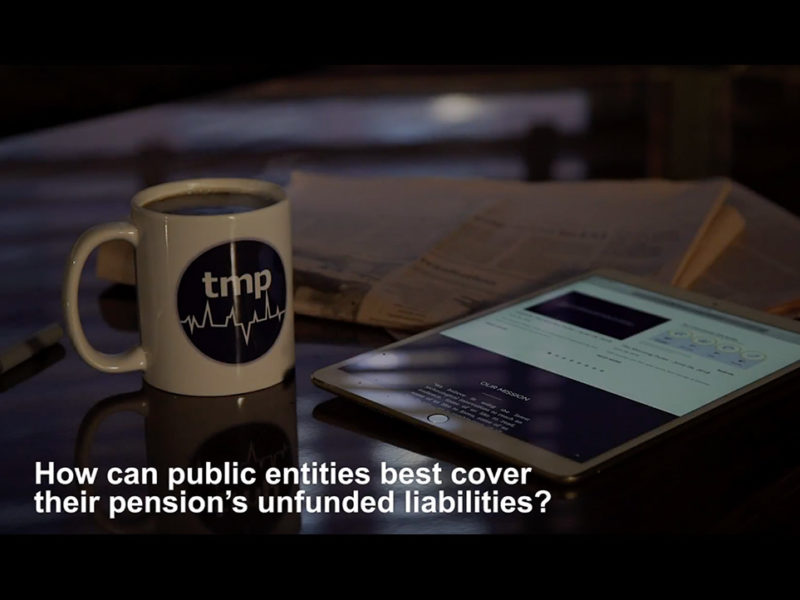 How can public entities best cover their pension's unfunded liabilities?