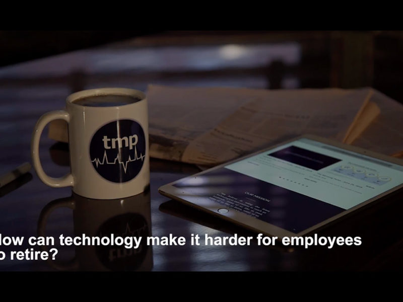 How can technology make it harder for employees to retire?