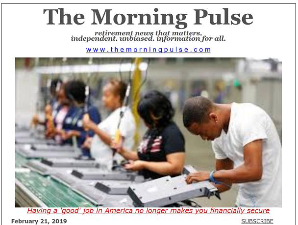 The Morning Pulse – February 21, 2019