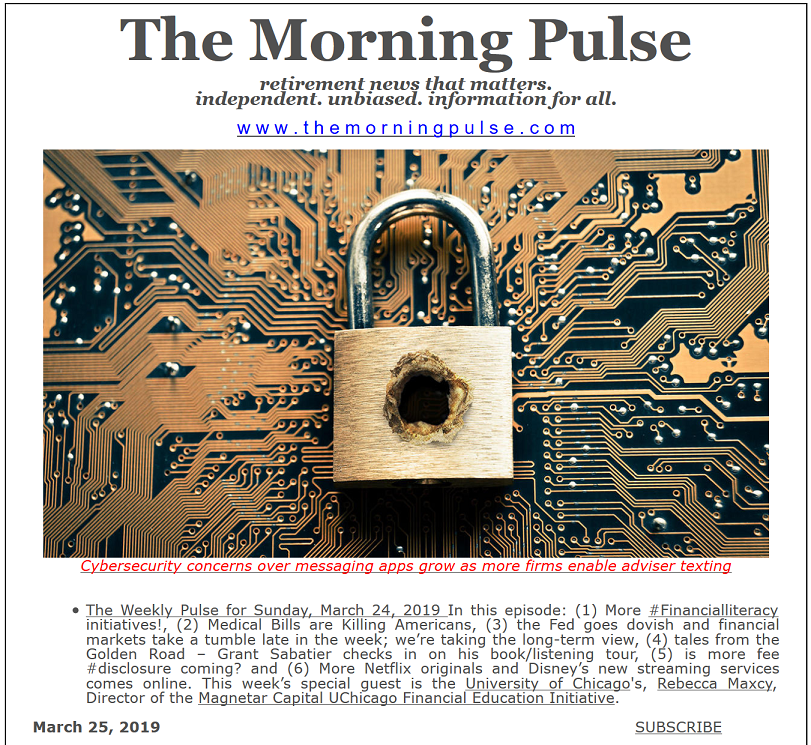 The Morning Pulse – March 25, 2019