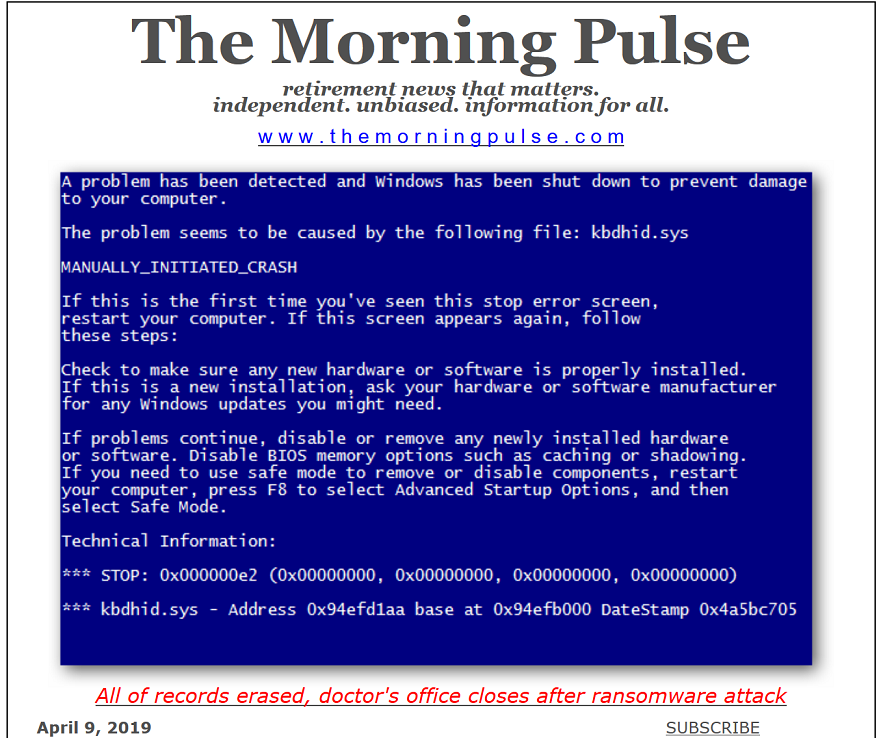 The Morning Pulse – April 9, 2019