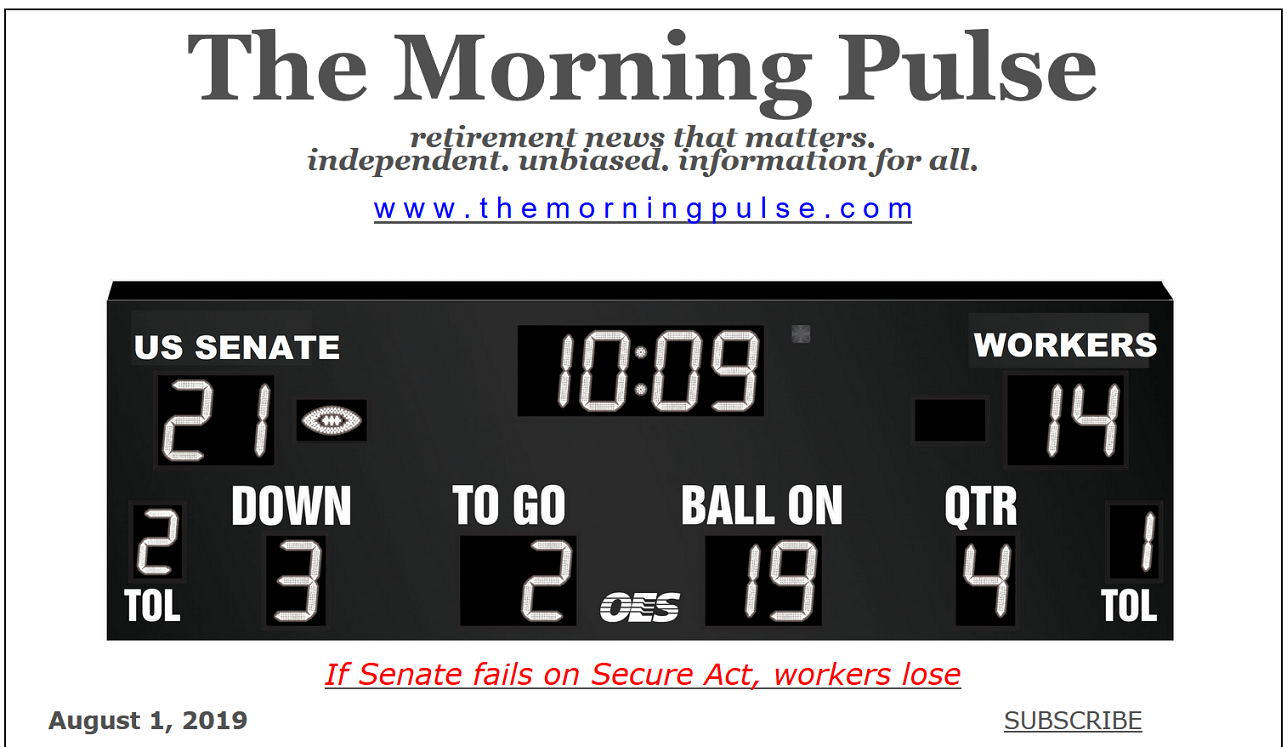 The Morning Pulse – August 1, 2019