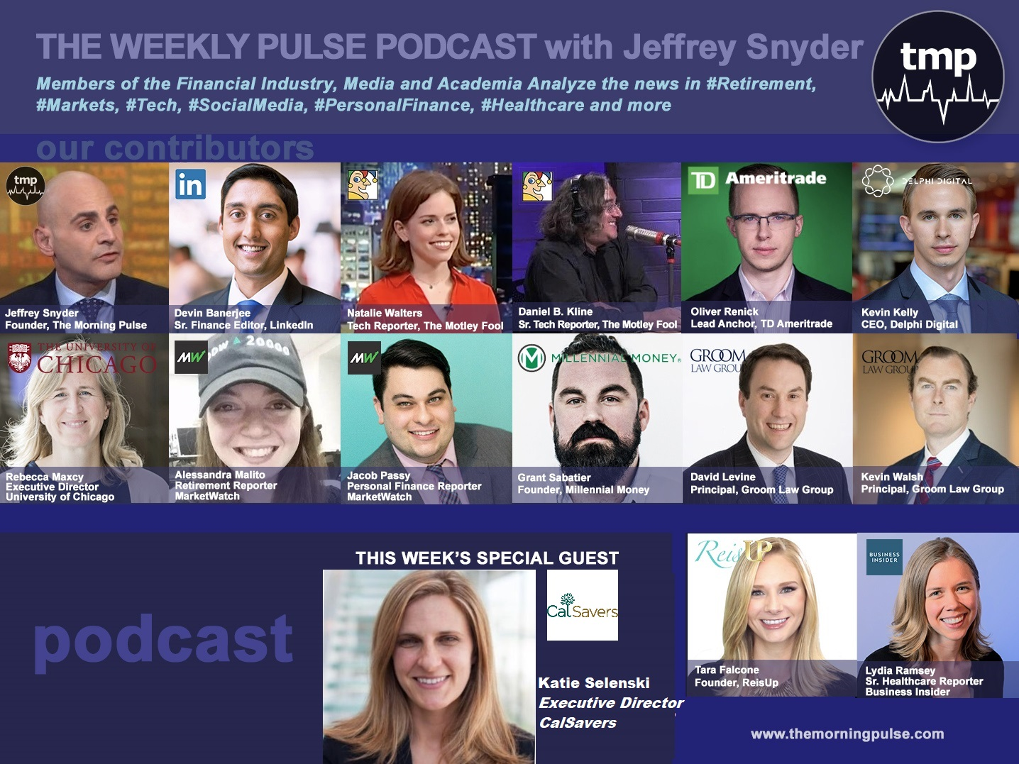 (Podcast) 8/18/2019 In this episode: (1) CalSavers Executive Director Katie Selenski joins us to discuss recent successes of the Program since it's July 1, 2019 rollout, (2) Ancestry.com thinks about a move in to healthcare and drug negotiations go viral, (3) the inverted yield curve and recession sentiment, & more.