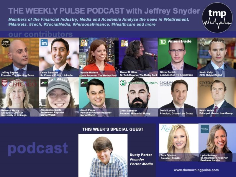 (Podcast) 8/25/2019 In this episode: (1) Small business trials and tribulations with voice-over actor and #contentcreator Dusty Porter,  (2) How to save $1,000 in 5 easy steps (3) the birth of E-Delivery and modernization in the retirement industry?, & more.