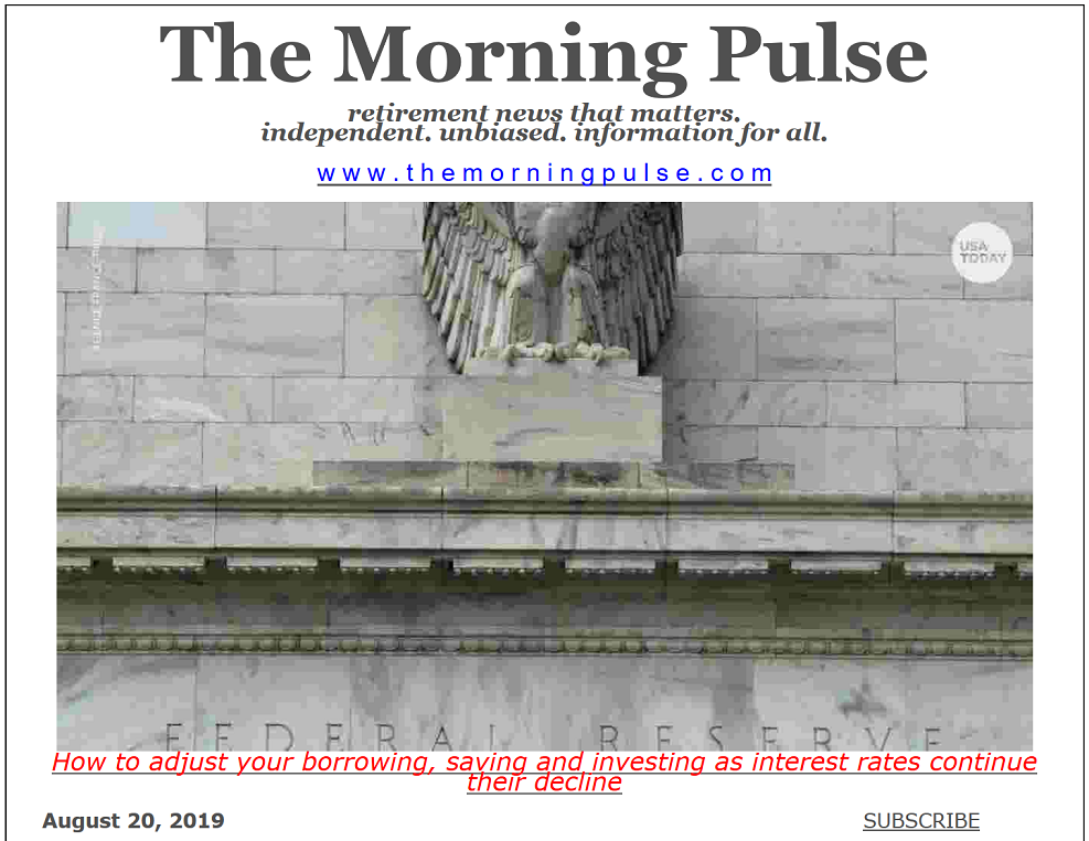 The Morning Pulse – August 20, 2019