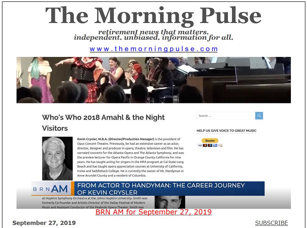 The Morning Pulse – September 27, 2019