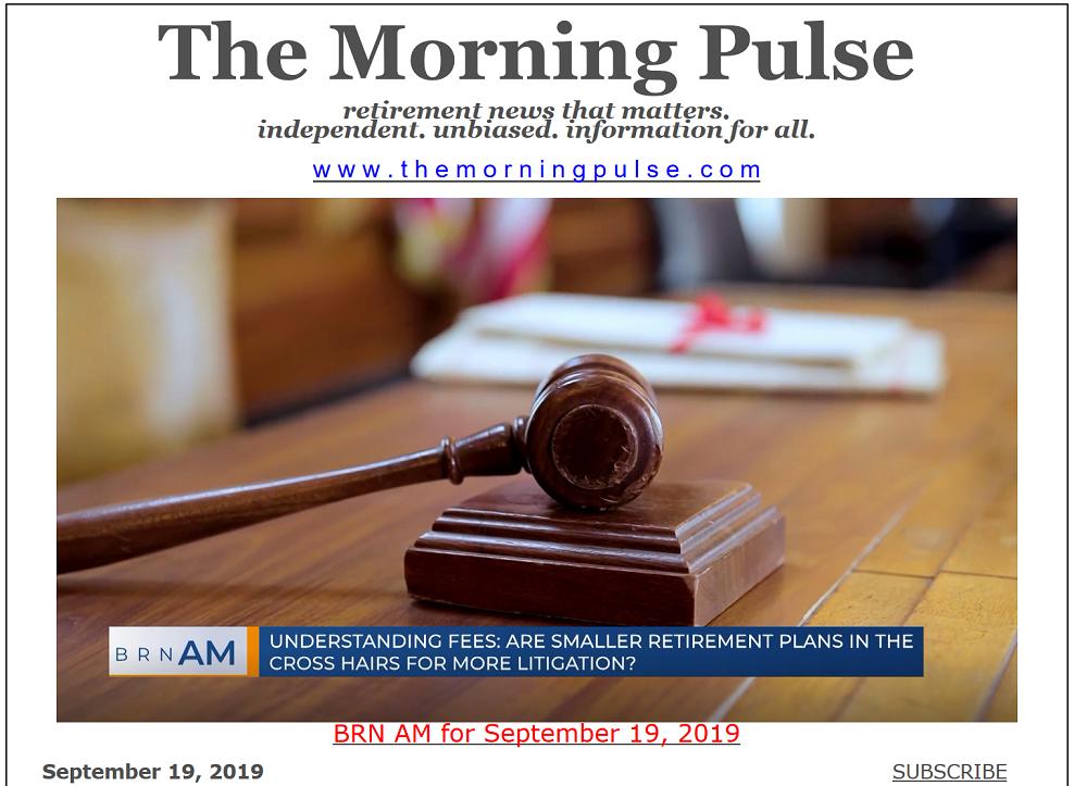 The Morning Pulse – September 19, 2019