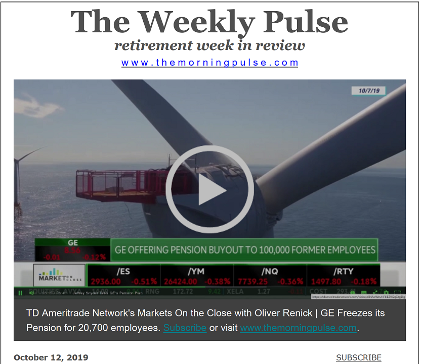 The Weekly Pulse – October 12, 2019