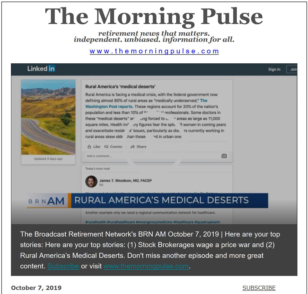 The Morning Pulse – October 7, 2019
