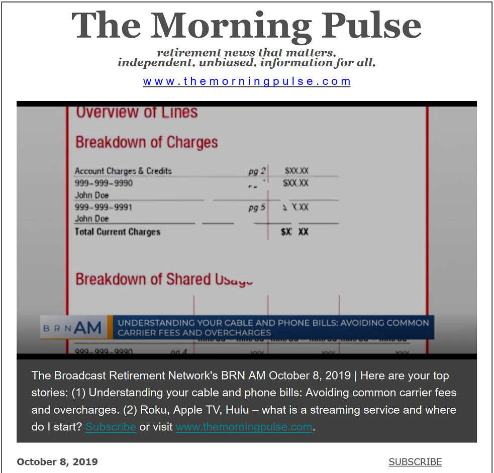 The Morning Pulse – October 8, 2019