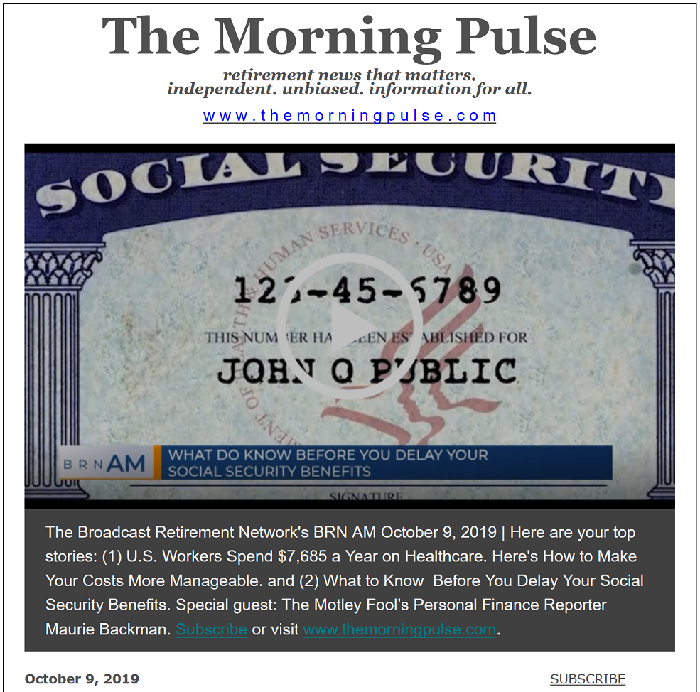 The Morning Pulse – October 9, 2019
