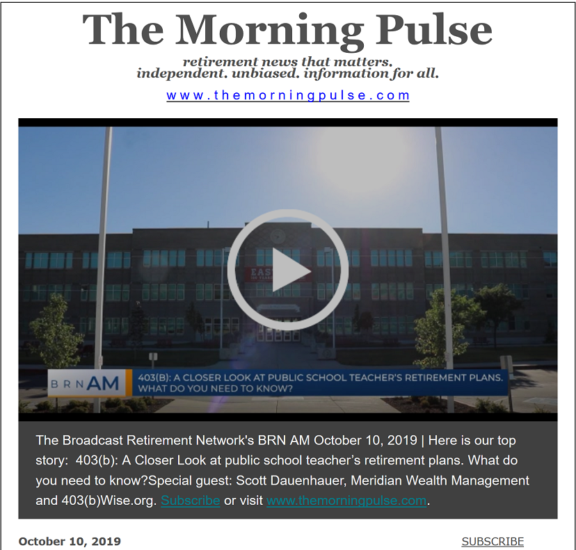 The Morning Pulse – October 10, 2019