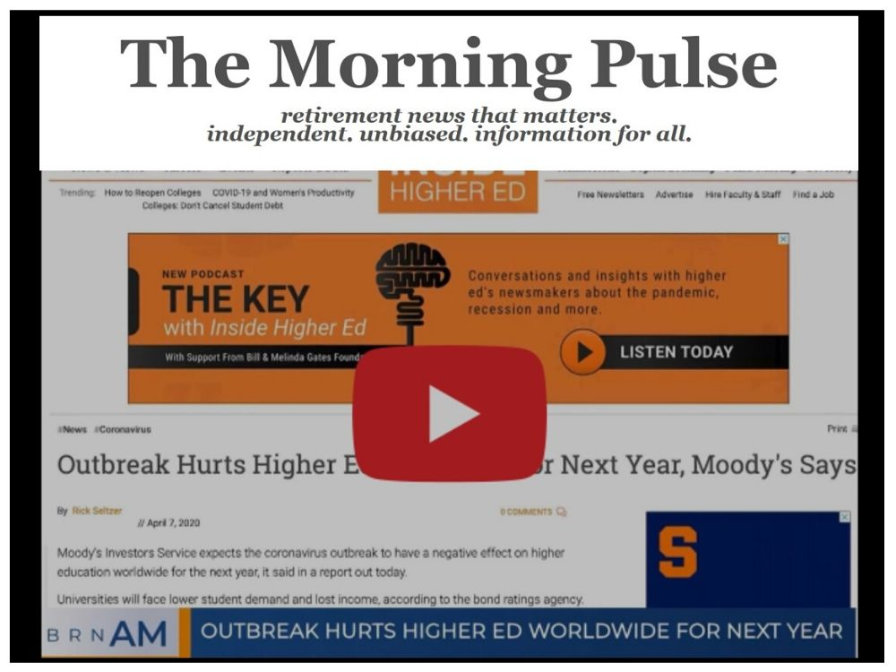 The Morning Pulse – Wednesday, April 22, 2020