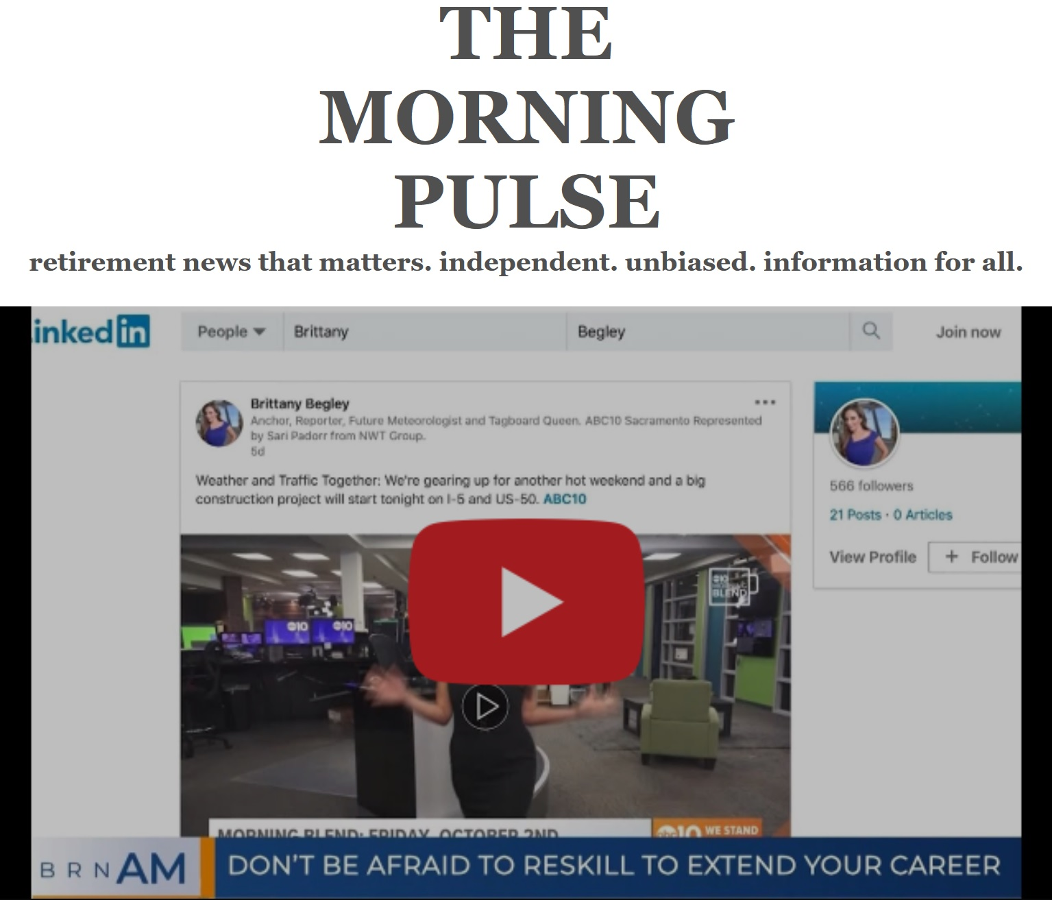 The Morning Pulse – Wednesday, October 7, 2020