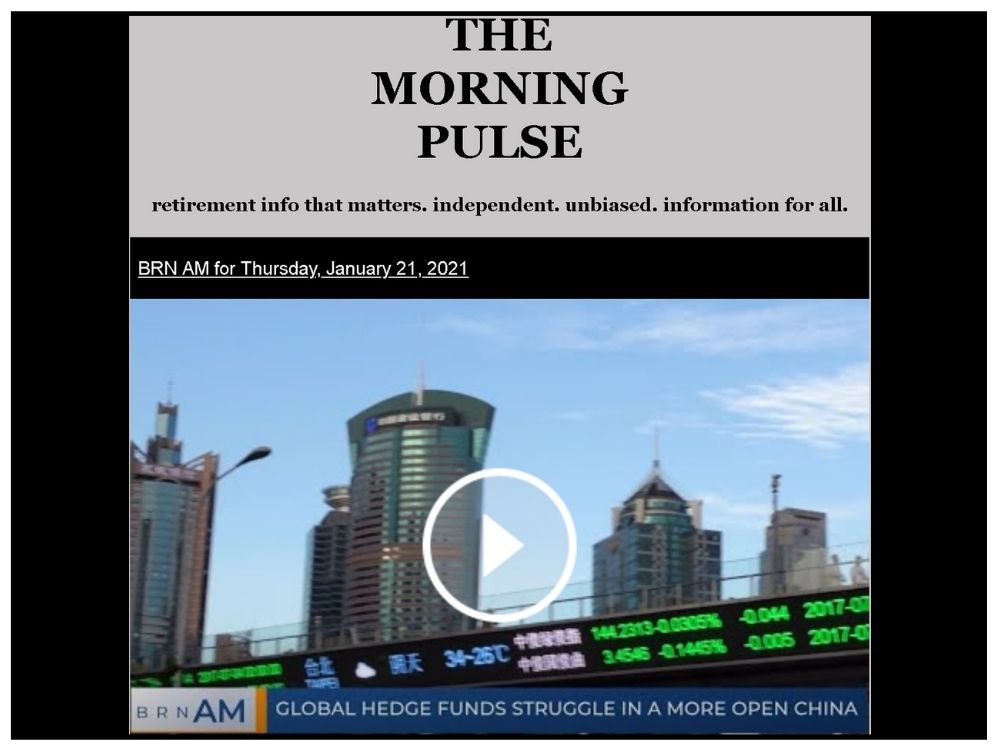 The Morning Pulse – Thursday, January 21, 2021