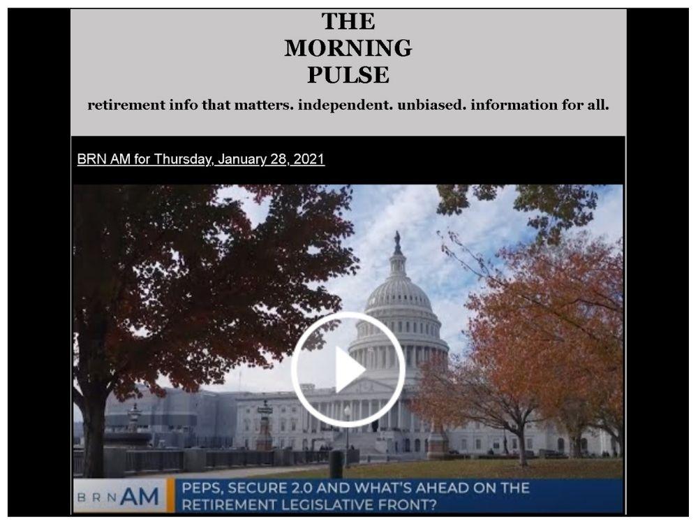 The Morning Pulse – Thursday, January 28, 2021