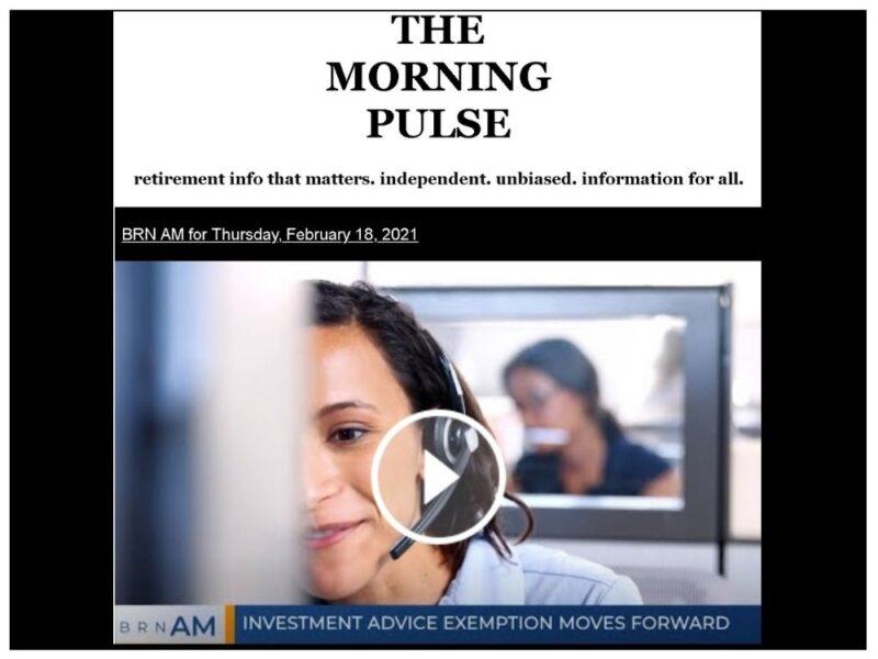The Morning Pulse – Thursday, February 18, 2021