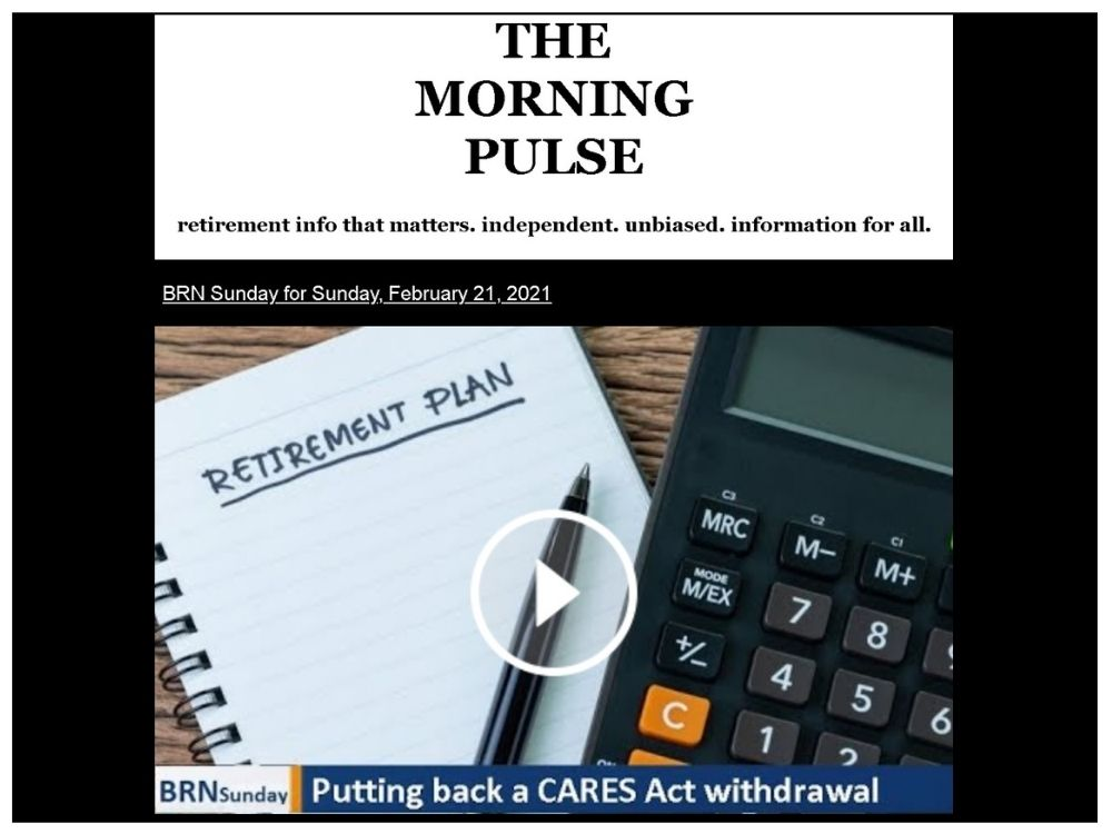 The Morning Pulse – Sunday, February 21, 2021