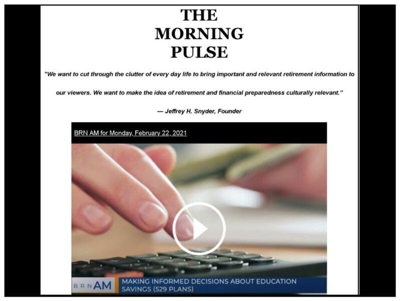 The Morning Pulse – Monday, February 22, 2021