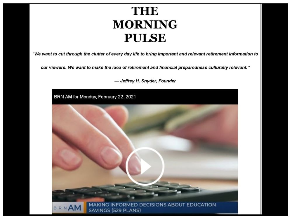 The Morning Pulse – Monday, February 22, 2021