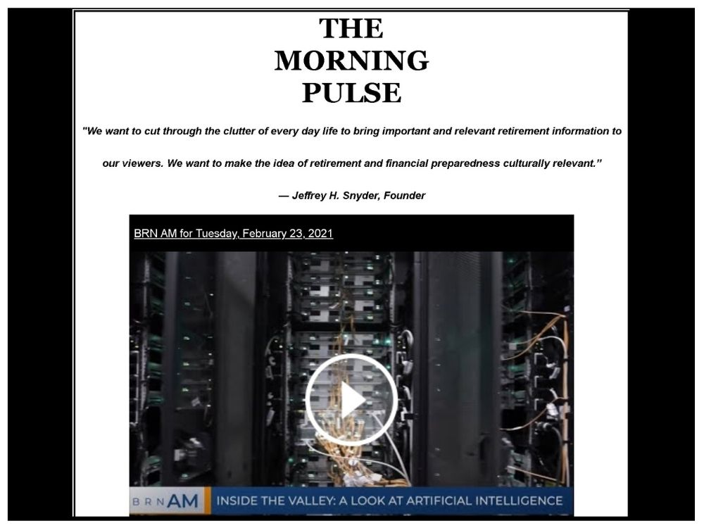 The Morning Pulse – Tuesday, February 23, 2021