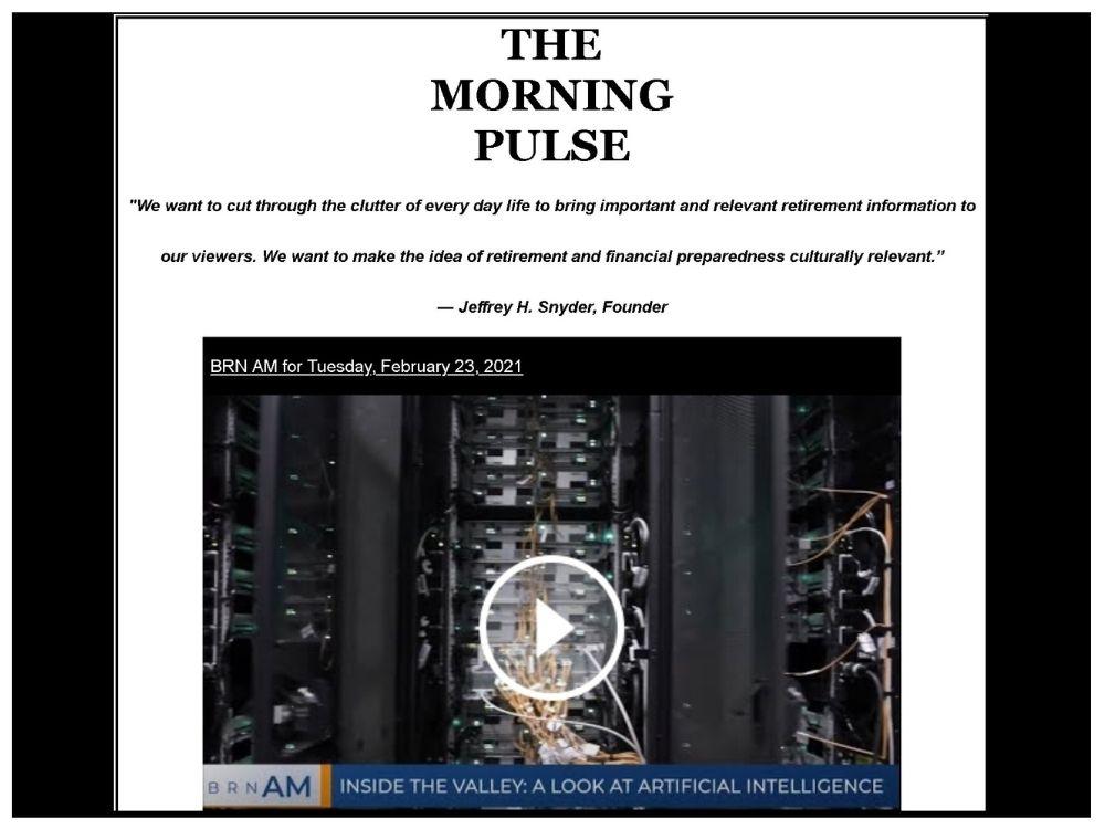 The Morning Pulse – Tuesday, February 23, 2021