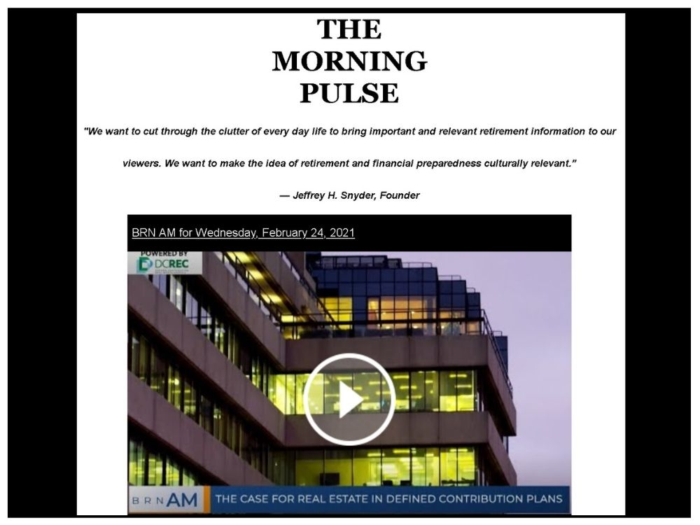 The Morning Pulse – Wednesday, February 24, 2021