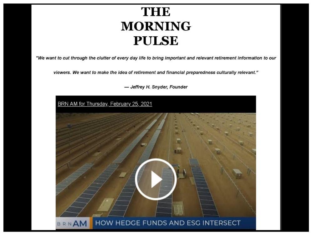 The Morning Pulse – Thursday, February 25, 2021