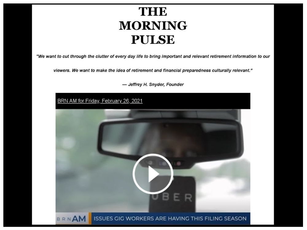 The Morning Pulse – Friday, February 26, 2021