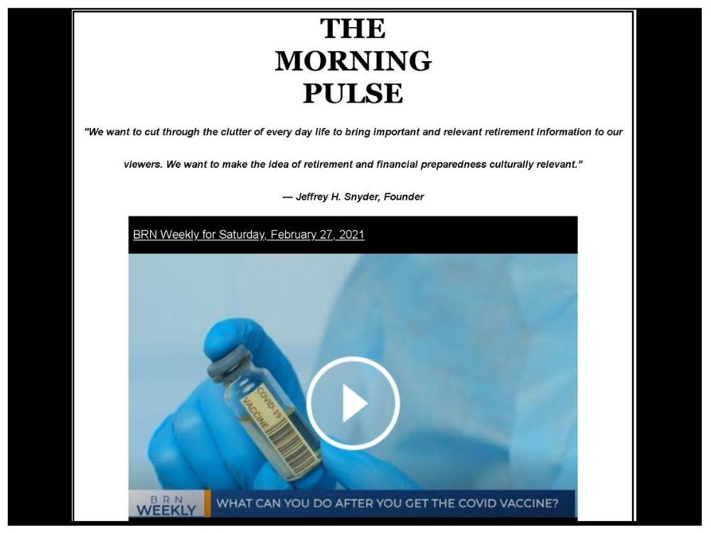 The Morning Pulse – Saturday, February 27, 2021
