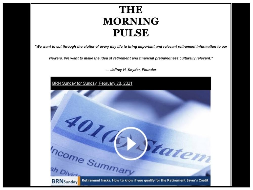 The Morning Pulse – Sunday, February 28, 2021